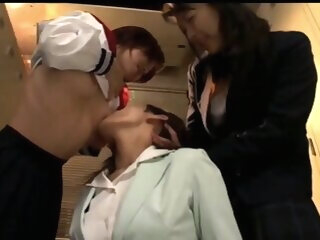 Asian Lesbian Teacher Loves Licking Schoolgirl Ass and Feet asian asian